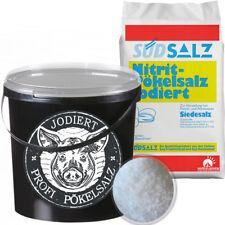 Profi Nitrit Pökelsalz Jod 0,85<1,0% Siedesalz Eimer Pökeln Salz Nitritsalz 10kg