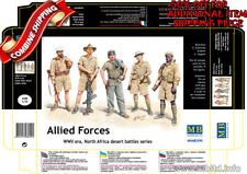 Master Box 3594 WWII Allied Forces, North Africa (5Fig.) plastic model kit 1/35