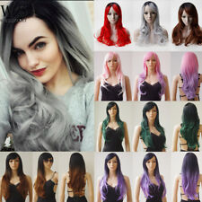 Glueless Full Wigs Real Heat Resistant Ombre Synthetic Hair Costume Fancy Dress