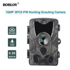 BOBLOV HC801A 16MP Waterproof 3xPIR 0.3S Night Vision Hunting Game Trail Camera