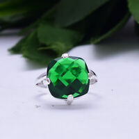 Fascinating Diopside Gemstone 925 Sterling Silver Handmade Ring All Size