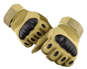 ISLERO All Weather Leather Motorbike Motor cycle Gloves Knuckle Protection ATV