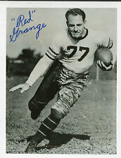 Original signed Red Grange Chicago Bears 8 x 10 autograph Photo black & white