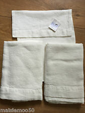 SET OF TWO FLAMANT GRENELLE TABLE RUNNERS 100% IVORY LINEN NEW RRP £100