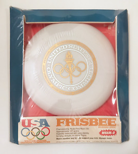 Vintage Frisbee - Wham-o 1979 US Olympic Committee - 100D Mold + Frisbee Hanger