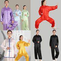 Chinese Kung Fu Tai Chi Silk Uniform Martial Arts Wushu Wing Chun Sets Unisex