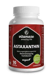 (€60,05/100g) Natürliches Astaxanthin 4 mg VEGAN, 90 Kapseln für 3 Monatsvorrat