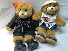 Harley Davidson Build-A-Bear Biker Pair Boy & Girl