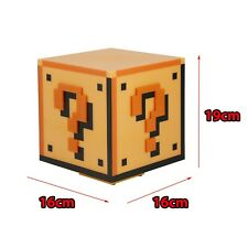 Paladone Super Mario Brothers Question Block Light 3d Night Lamp Gaming Nintendo
