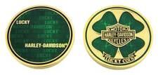 Harley-Davidson Bar & Shield Shamrock Lucky Challenge Coin, 1.75 in Coin 8007171