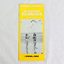 Pan Am - Destination Florida - Winter 1981/82 - Advertising Flyer / Booklet