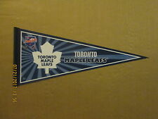 NHL Toronto Maple Leafs Vintage Circa 2008 KRAFT HOCKEYVILLE Logo Hockey Pennant