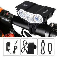 3x XM-L T6 LED 15000Lumen Bicicleta Cabeza Luz Frontal Linterna LÁMPARA Charged