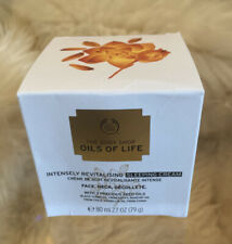The Body Shop Oils For Life Intensely Revitalising Sleeping Cream 80ml New Boxed