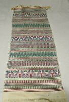 Vintage Folk Art Woven Wall Hanging Tapestry