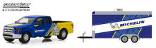 Greenlight 1:64 Hitch & Tow 13 2016 Ford F150 Enclosed Car Michelin Tires Racing