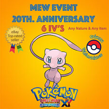 Pokémon ORAS / XY – MEW EVENT POKÉMON 20th ANNIVERSARY 6IV's - ANY NATURE