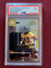 Troy Polamalu 2003 Playoff Absolute Rookie Card 1022/1100 PSA 9 Mint Steelers