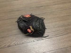 "Rawlings Heart Of The Hide Pro Mesh Yadi 34"" Catchers Mitt Baseball Glove Black"