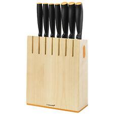 Fiskars Messerblock Set mit 7 Küchenmesser und Magnethalterung - Top Angebot