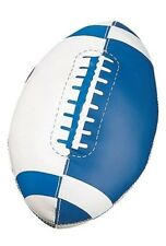 "New Champion Soft Sport Mini 8"" Long Foam Nurf Football Blue/Wht w/ Raised Seam"