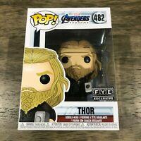 Funko POP! Marvel Avengers Endgame Thor #482 FYE EXCLUSIVE Vinyl Figure