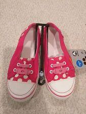 Crocs Hover Skimmer Girls Pink Polka Dots Shoes Slip On Flat Size: J3 BRAND NEW