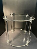 Lucite Two-Tier Round Side Table Acrylic Accent Table