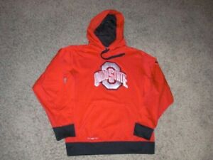 OHIO STATE BUCKEYES Nike Therma Fit athletic Hoodie Sweatshirt men's Small