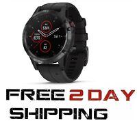 Garmin Fenix 5 Plus Sapphire GPS Watch (Black Band) HEART RATE 010-01988-00