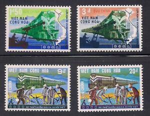 Vietnam-S.   1968   Sc # 339-42   Rail Road   VLH   OG   (1-095)