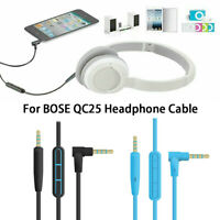 With microphone For BOSE QC25 Headphone cable Earphone Plug Audio cable