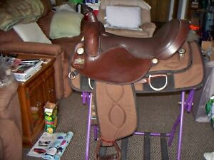 "17"" Big Horn Ralide Flex Tree synthetic western saddle, FQHB- 7"" gullet"