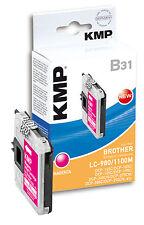 KMP cartucho b31 para Brother lc-980m/lc-1100m dcp-145 C 165c 185c, etc. magenta