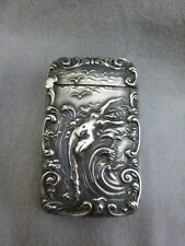 Gorgeous Unger Brothers Sterling Silver Match-safe / Vesta Case - Nude in Waves