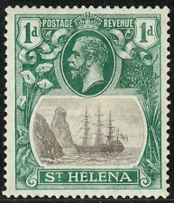 ST HELENA 1922-37 SG98b 1d GREY & GREEN TORN FLAG MM CV £250