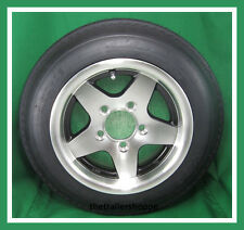 ALUMINUM Trailer Wheel 4.80-12 Tire LR C 4.80x12 5 bolt