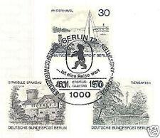 Berlín 1976: havel, Spandau y animal jardín nr 529-531 con sello especial! 1a 1510
