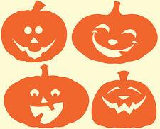 Autocollant citrouille Halloween Set de 4 petites pour Windows, murs, des véhicules, etc..