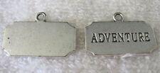 30pcs Tibetan Silver ADVENTURE square charms FC8893