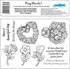 CREATIVE EXPRESSIONS Stamps POSY FLORALS 1 If I had flower You're so sweet Rose