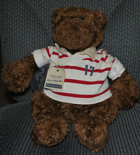 Gund American Eagle Outfitters Roscoe Rugby Bear Plush Teddy Vintage Shirt Bag