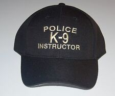 POLICE K-9 INSTRUCTOR CAP  Free Shipping