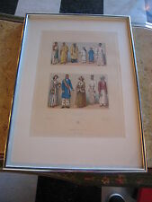 Vintage Semi Antique French Asie Asien Asia Asian Fashion Print