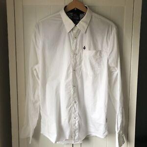 Volcom White Long Sleeved Shirt Size Small