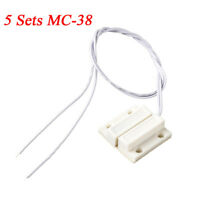 5sets MC-38 Wired Door Window Sensor Magnetic Switch for Home Alarm System