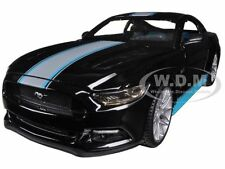 2015 FORD MUSTANG GT 5.0 BLACK CUSTOM 1/24 DIECAST CAR MODEL BY MAISTO 31369
