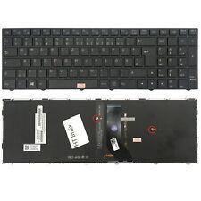 DE - Tastatur Keyboard mit Beleuchtung + Rahmen für Clevo N950TP6