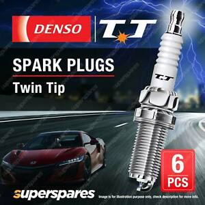 6 x Denso Twin Tip Spark Plugs for Daewoo Musso FJ M 104.992 3.2L 6Cyl 24V 98-02