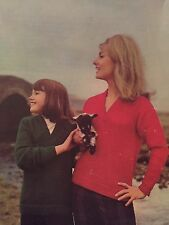 F3 - Knitting Pattern - V-neck Shetland Effect Jumpers - Sizes 30-40""